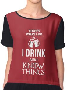 I Drink and I Know Things in Red Chiffon Top