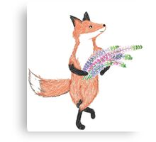 Foxgloves and Foxtrots Canvas Print
