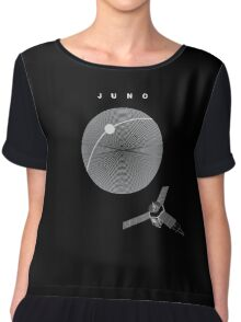 MISSION JUNO: NASA Space Probe  Chiffon Top