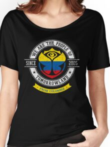 People of Tomorrowland Flags logo Badge - colombia - colombian - colombiano - colombie Women's Relaxed Fit T-Shirt