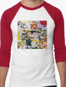 comic pop art design Men's Baseball ¾ T-Shirt