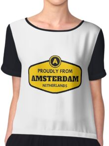 Proudly From Amsterdam Netherlands Chiffon Top