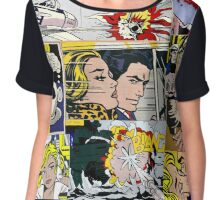 comic pop art design Chiffon Top