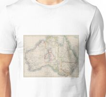 Australia and British Isles Size Comparison Map Unisex T-Shirt