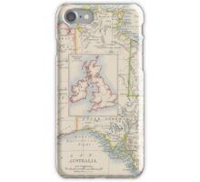 Australia and British Isles Size Comparison Map iPhone Case/Skin