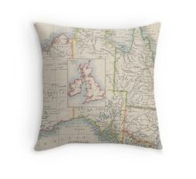 Australia and British Isles Size Comparison Map Throw Pillow