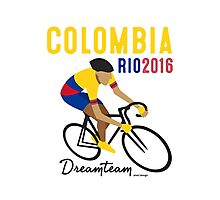Olympics Colombia Cycling Photographic Print