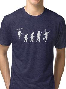 Funny Badminton Evolution Tri-blend T-Shirt