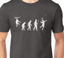 Funny Badminton Evolution Unisex T-Shirt