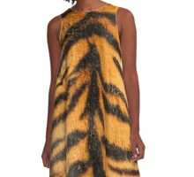 Tiger Stripes A-Line Dress