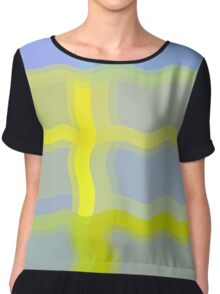 Yellow Pattern Number Four Chiffon Top