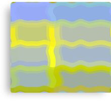 Yellow Pattern Number Four Canvas Print