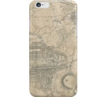 Vintage Map of Edinburgh Scotland (1818) iPhone Case/Skin