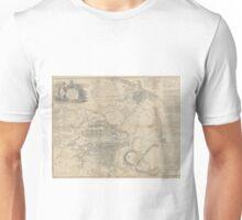 Vintage Map of Edinburgh Scotland (1818) Unisex T-Shirt