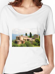 farmhouse in Tuscany, Italy Women's Relaxed Fit T-Shirt