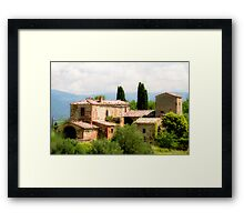 farmhouse in Tuscany, Italy Framed Print