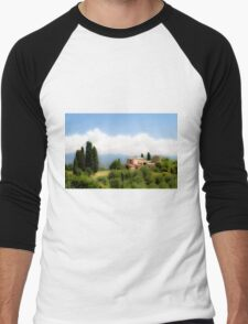 farmhouse in Tuscany, Italy Men's Baseball ¾ T-Shirt
