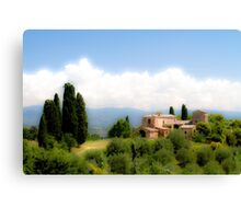 farmhouse in Tuscany, Italy Canvas Print