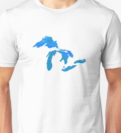 Great Lakes Water Glow Image Unisex T-Shirt