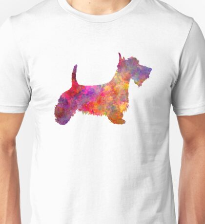 Scottish Terrier in watercolor Unisex T-Shirt