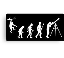 Funny Evolution Of Man Astronomy Canvas Print