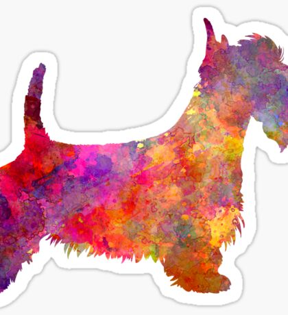 Scottish Terrier in watercolor Sticker
