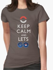 Keep Calm Pokemon Go Womens Fitted T-Shirt