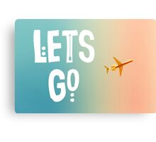 Let's Go (Airplane) Canvas Print