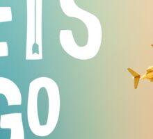 Let's Go (Airplane) Sticker