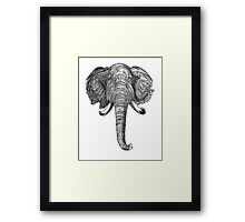Vintage Elephant Head Illustration (1872) Framed Print