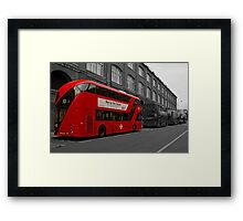 Bus to the future Framed Print