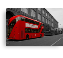 Bus to the future Canvas Print