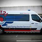Royal Flying Doctor Ambulance by Bev Pascoe