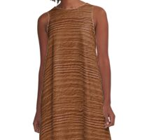 Adobe Wood Grain Texture A-Line Dress
