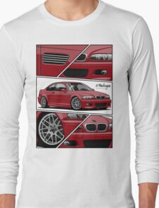 BMW E46 M3 (fragments) Long Sleeve T-Shirt