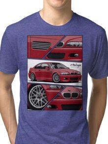 BMW E46 M3 (fragments) Tri-blend T-Shirt