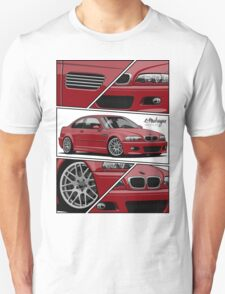 BMW E46 M3 (fragments) Unisex T-Shirt
