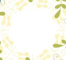 Floral frame 1 Sticker