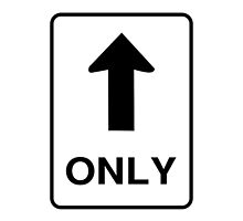 One Way Only Road Sign by emilysmithart
