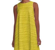 Buttercup Wood Grain Texture A-Line Dress