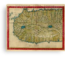 Vintage Map of West Africa (1561) Canvas Print