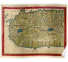 Vintage Map of West Africa (1561) Poster