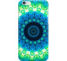 Blue Kaleidoscope/Medallion Print iPhone Case/Skin