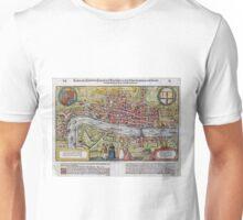 Vintage Map of London England (1598) Unisex T-Shirt