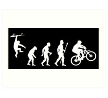 Funny Mountain Biking Evolution Art Print