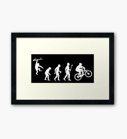 Funny Mountain Biking Evolution Framed Print