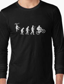 Funny Mountain Biking Evolution Long Sleeve T-Shirt