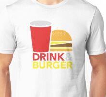 Drink & Burger Unisex T-Shirt