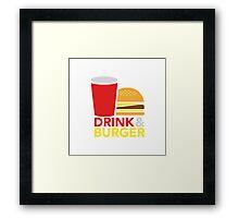 Drink & Burger Framed Print