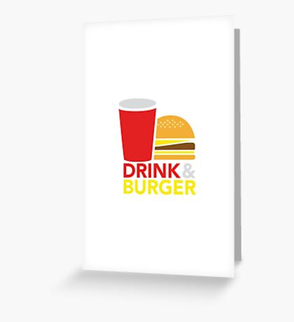 Drink & Burger Greeting Card